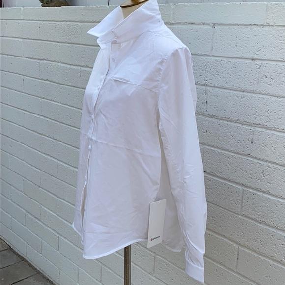 lululemon athletica Tops - NWT Lululemon Full Day Ahead Shirt white blouse 10